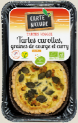 Tarte carotte graines de courge et curry