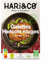 Galettes Haricots Rouges Poivrons Curry - Hari&Co
